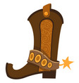 cowboy boot logo wild west vector image