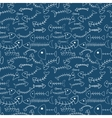 Funny cartoon fish skeletons seamless pattern vector image