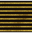 Golden striped seamless pattern set vector image