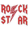 rock star glitter fashion slogan in rock style vector image