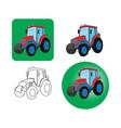icons of tractors on a white background vector image