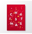 Merry Christmas Abstract Swiss Style vector image vector image