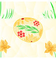 seamless texture easter egg and daffodil polygons vector image