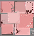 pink square cards vector image