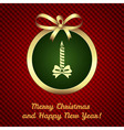 Christmas and New Year card background vector image vector image