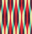retro curves seamless pattern with grunge effect vector image