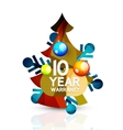 Christmas sale 10 year warranty label Holiday vector image