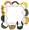 cute cartoon kids frame vector image
