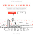 Weekend in Canberra Capital city of Australia vector image