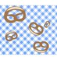 Seamless Oktoberfest pattern Pretzel vector image