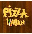 Italian pizza Background vector image