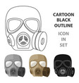 army gas mask icon in cartoon style isolated on vector image
