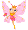 Beautiful butterfly princess vector image