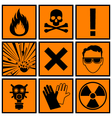 Icons warning of danger vector image