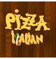 Italian pizza Background vector image