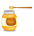 jar with honey vector image
