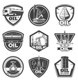 Monochrome Oil Industry Labels vector image