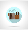 refinery storage flat round icon vector image