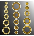 set of 16 Golden rings EPS 10 vector image