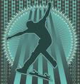skateboarder vintage design vector image