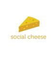 social cheese concept design template vector image