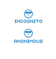 Anonymous personality wearing eyeglasses retro vector image