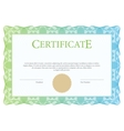 Certificate and diploma template vector image vector image