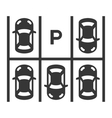Top View Of Parking Lot vector image
