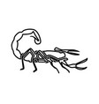 scorpion black color icon vector image