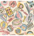 Kids racing badges patchwork vector image