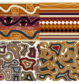 ollection of graphic seamless textures vector image