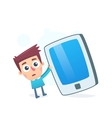 Oversized smartphone vector image vector image