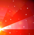 Abstract red mosaic galaxy with perspective vector image