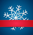 Paper snowflake on colored background vector image