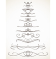Ornamental calligraphic line vector image