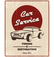Car service retro poster vector image vector image