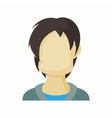 Avatar men teenager icon cartoon style vector image