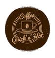 cafe or coffee shop market label grunge vector image