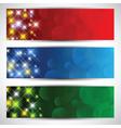 Christmas star banners vector image