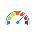 color tachometer with a pointer vector image