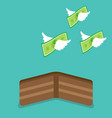 money flying from wallet vector image