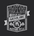 motor gasoline typography label design vector image