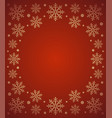 new year background card with snowflake red vector image