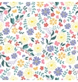 seamless pattern from spring flowers vector image