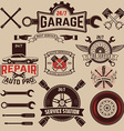Set of car service labels vector image