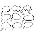 Speech clouds vector image