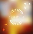 Unfocused summer background vector image