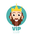 VIP club logo VIP Club members only logo Diadem vector image