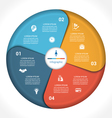 Business pie chart diagram data 4 vector image