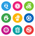 color environmental icons vector image